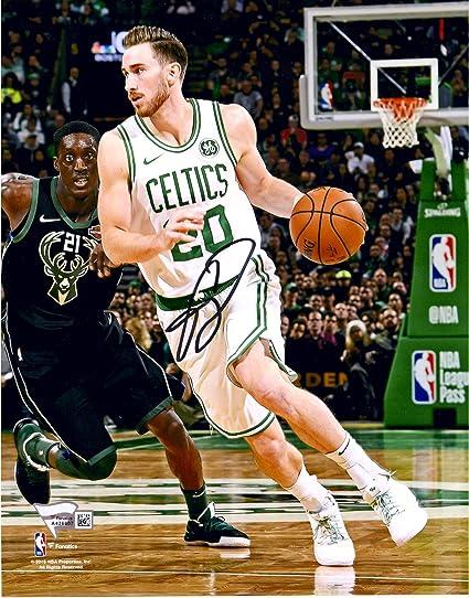 Gordon Hayward Boston Celtics Autographed 8 quot  x 10 quot  Drive  Photograph - Fanatics Authentic Certified 742f3e879