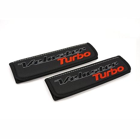 Hyundai Veloster negro almohadillas de piel Para Cinturón de Asiento de coche cubre correa de asiento