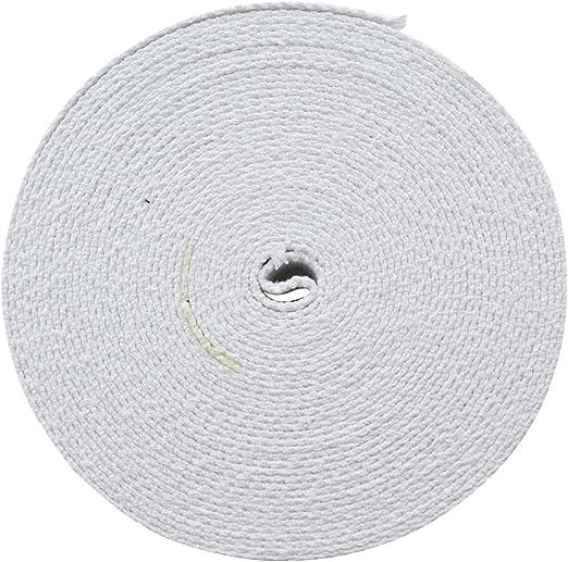 Trimit 10 m Rollo de 30 mm Blanco Cinta de algodón: Amazon.es: Hogar