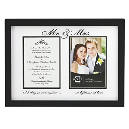 Amazon.com: Prinz Mr. and Mrs. Collage Photo Frame, 2/5 by 7-Inch ...