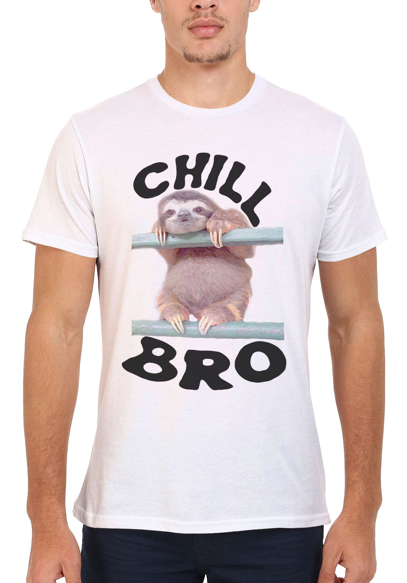 Chill Bro Sloth Lazy Animal Novelty Men Women Unisex Top T Shirt -