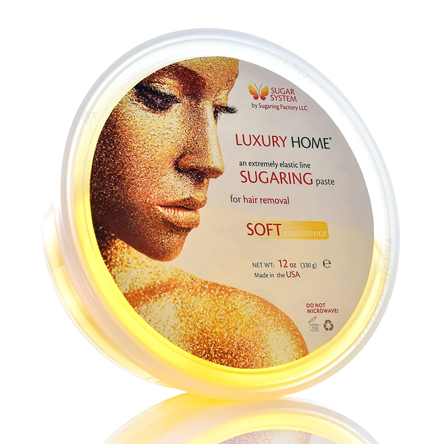 """Sugaring Paste""""Luxury HOME"""" – SOFT Organic Hair Removal - Long Lasting Sugar Wax, for waxing strips only"""
