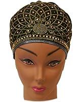 SSK Beautiful Metallic Turban-style Head Wrap