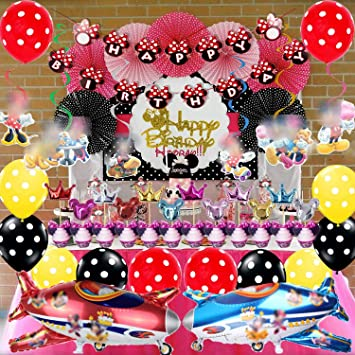 Minnie Mouse Party Decorations Supplies Minnie Birthday Red Banner For Girls 1st 2nd 3rd Baby Shower