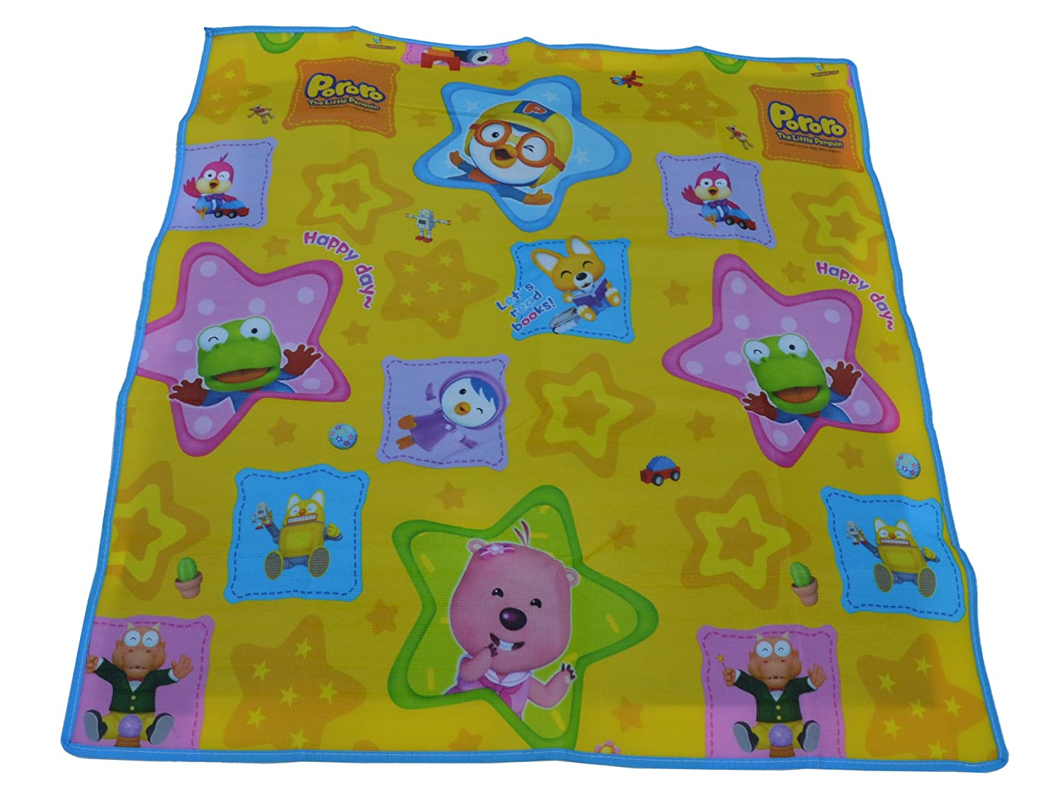 Pororo Pocket Mat, Beach Mat, Picnic Mat, Camping Mat - All Purpose Mat. Use 1 to 2 People, Small Size 39 x 35, Use the Waterproof Mat to Relax in the Park, Garden, Concert, Picnic, Hiking etc. Folds to a compact 10 x 9 by KJGLS B00K62LSU8