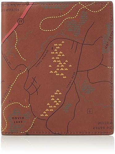 Portefeuilles Cognac 3x14 Passport 1 Fossil Braun homme 3x12 7wT5qIIYa