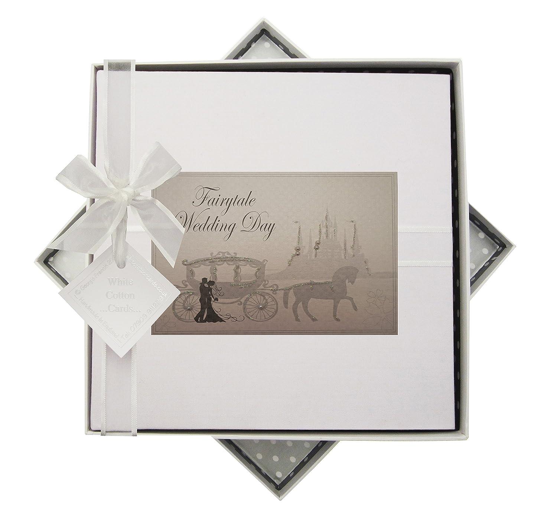 WHITE COTTON CARDS Wedding Day Fairytale Album, Legno, Bianco, Medium