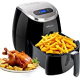 WEWespace No Oil Air Fryer Digital LED Touch Screen 3.7-Quart, 1350W - Comes with Recipes CookBook - Easy-to-clean - Dishwasher Safe - Auto Shut off & Timer