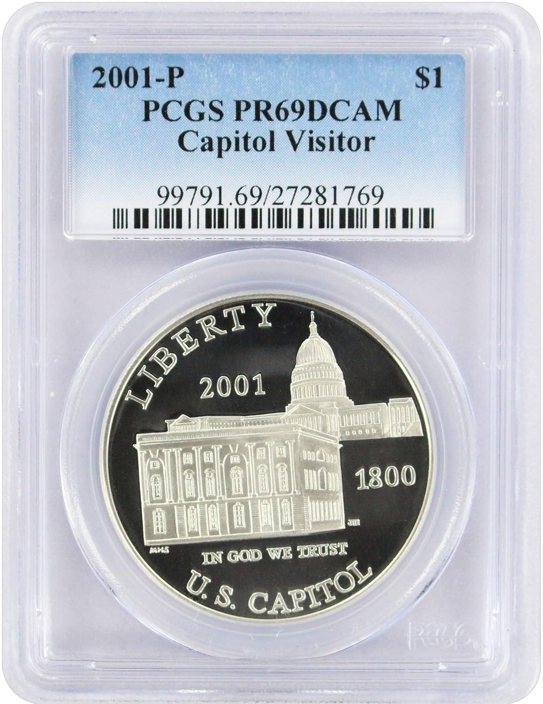 2001-P US Capitol Visitor Center Commemorative BU Silver Dollar