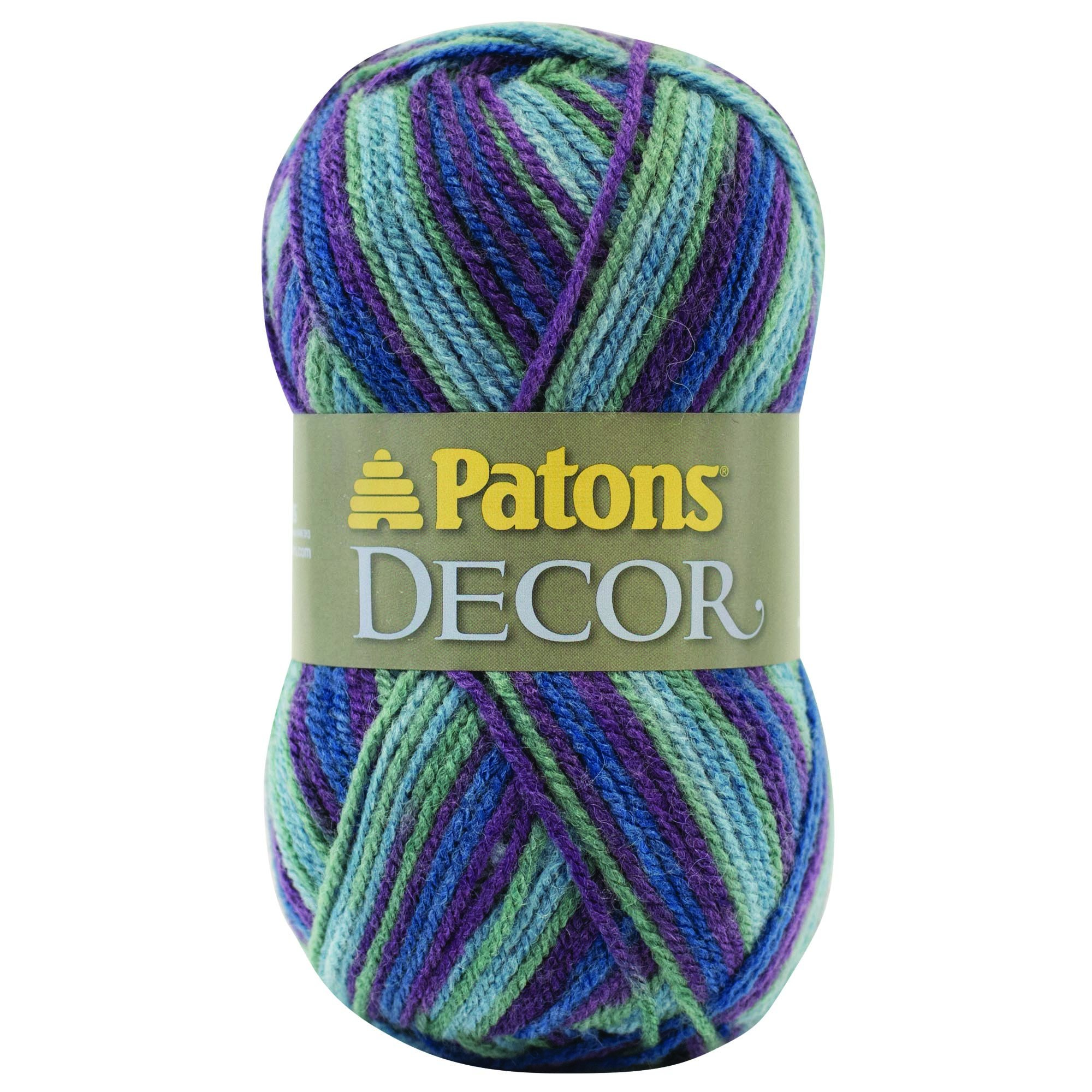 Patons  Decor Yarn - (4) Medium Worsted Gauge  - 3.5oz -  Mountain Top  -   For Crochet, Knitting & Crafting