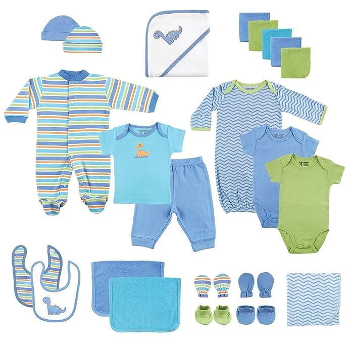 Luvable Friends Baby 24pc Gift Cube Bodysuit - Blue/Green 0-6M