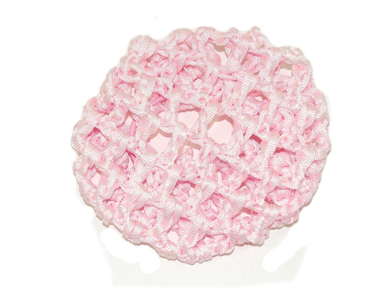 Joli filet à chignon de ballerine en crochet rose brillant Idéal pour n'importe quelle danseuse en herbe