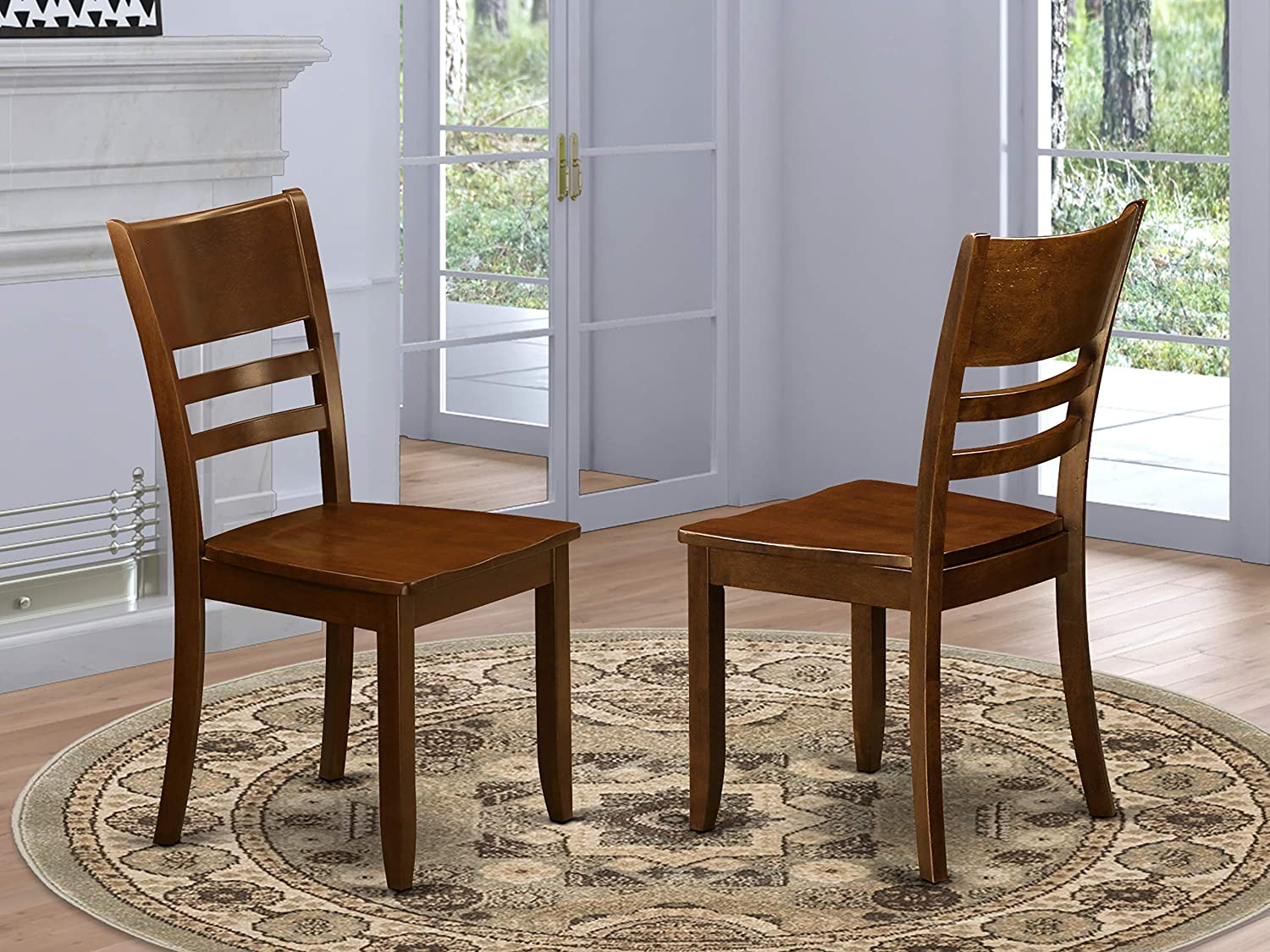 Lynfield Dining Chair with Wood Seat in Espresso Finish