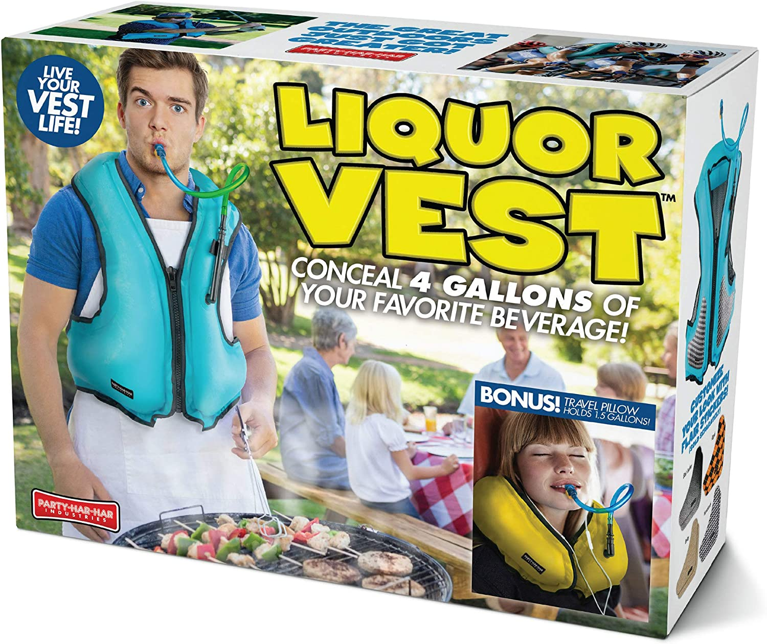 Prank Pack   Wrap Your Real Gift in a Prank Funny Gag Joke Gift Box - by Prank-O - The Original Prank Gift Box   Awesome Novelty Gift Box for Any Adult or Kid! (Liquor Vest)
