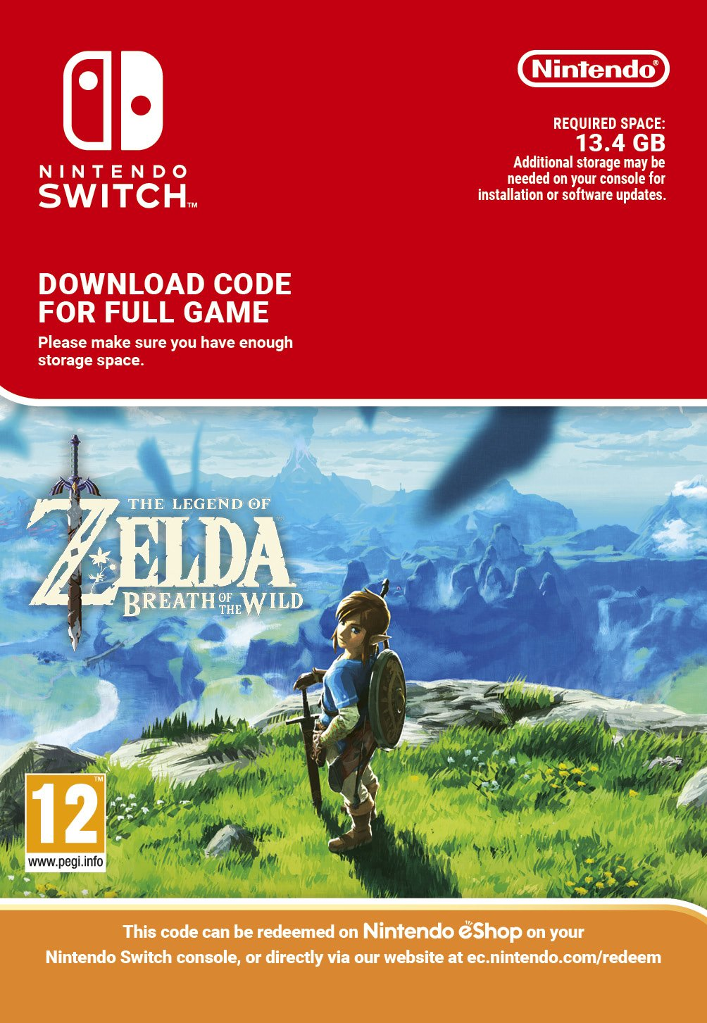 How to redeem your download code for nintendo wii u - The Legend Of Zelda Breath Of The Wild Switch Download Code Amazon Co Uk Pc Video Games