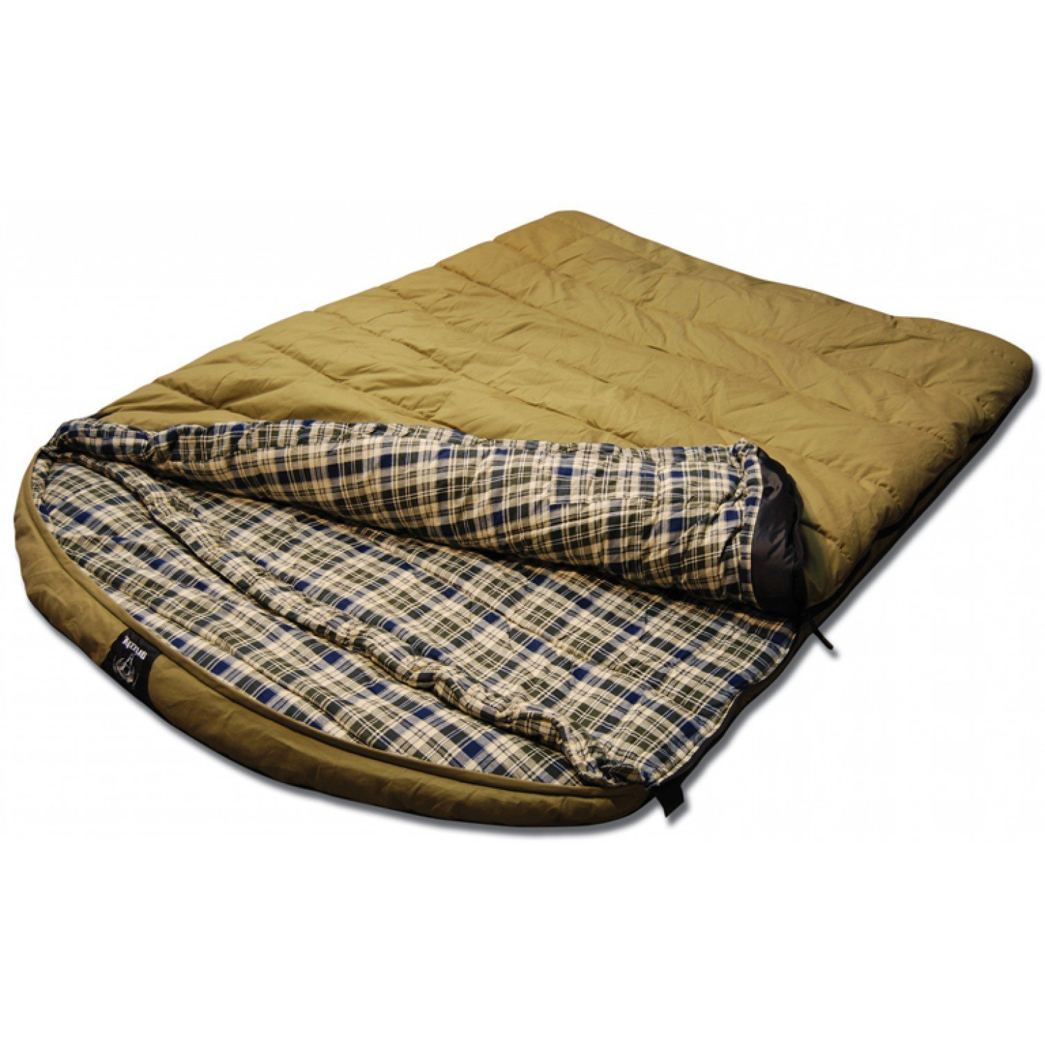 Venetian Worldwide Grizzly Private Label 2 person 0 Degree Canvas Sleeping Bag, Olive by Venetian Worldwide B01FMCL07M
