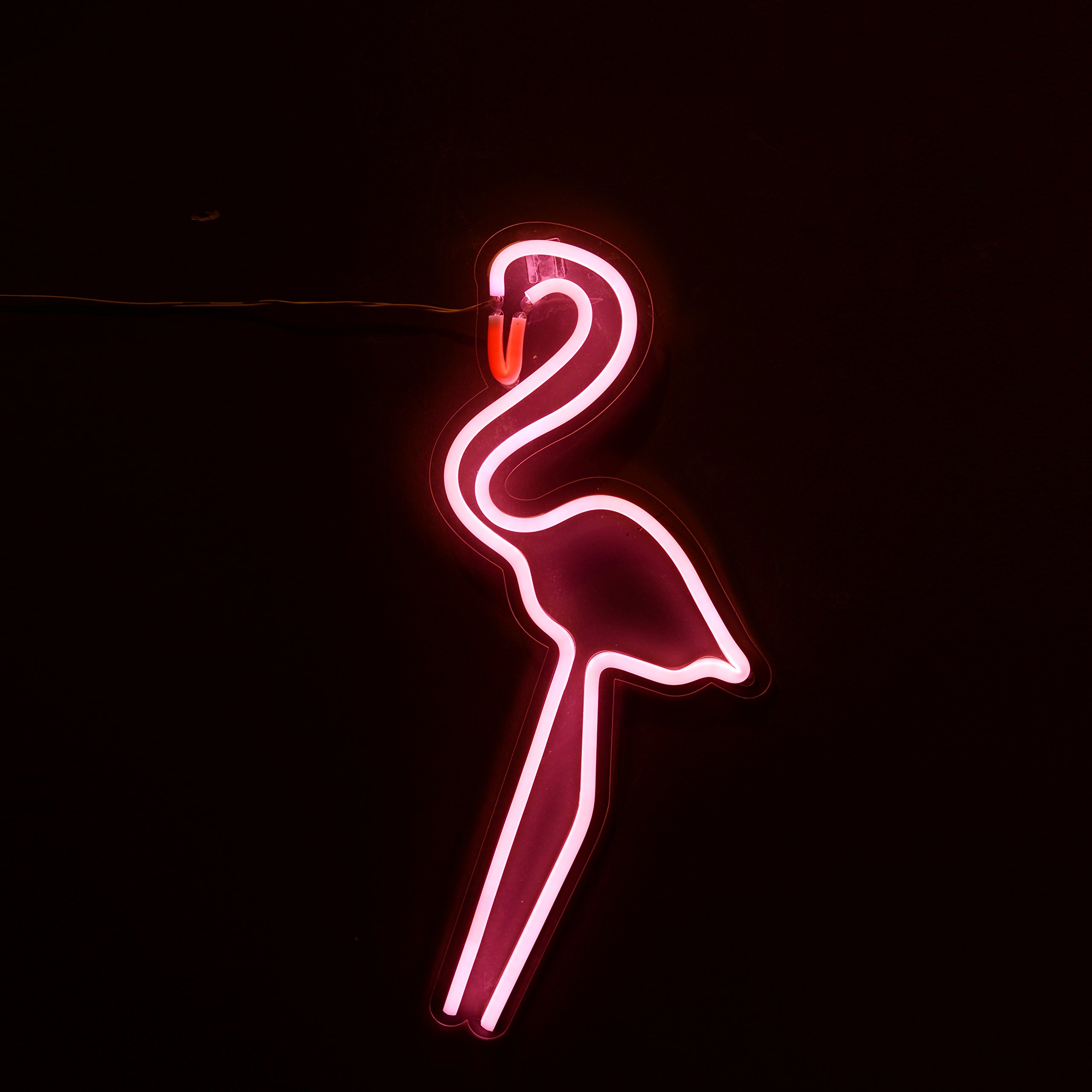 NIKKY HOME NL17001P Flamingo Neon Light, Pink