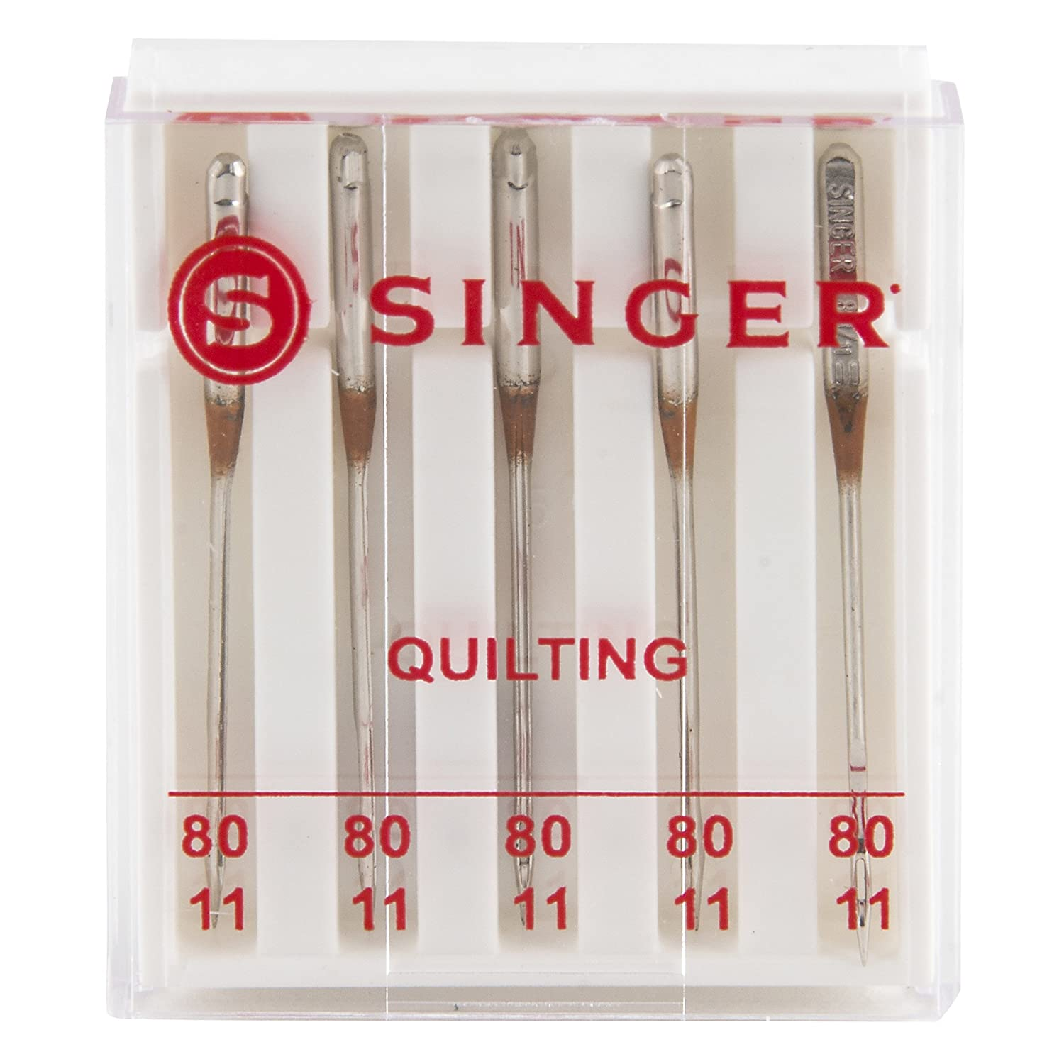 SINGER 04713 Size 80//11 Universal Machine Quilting Needles 5-Count