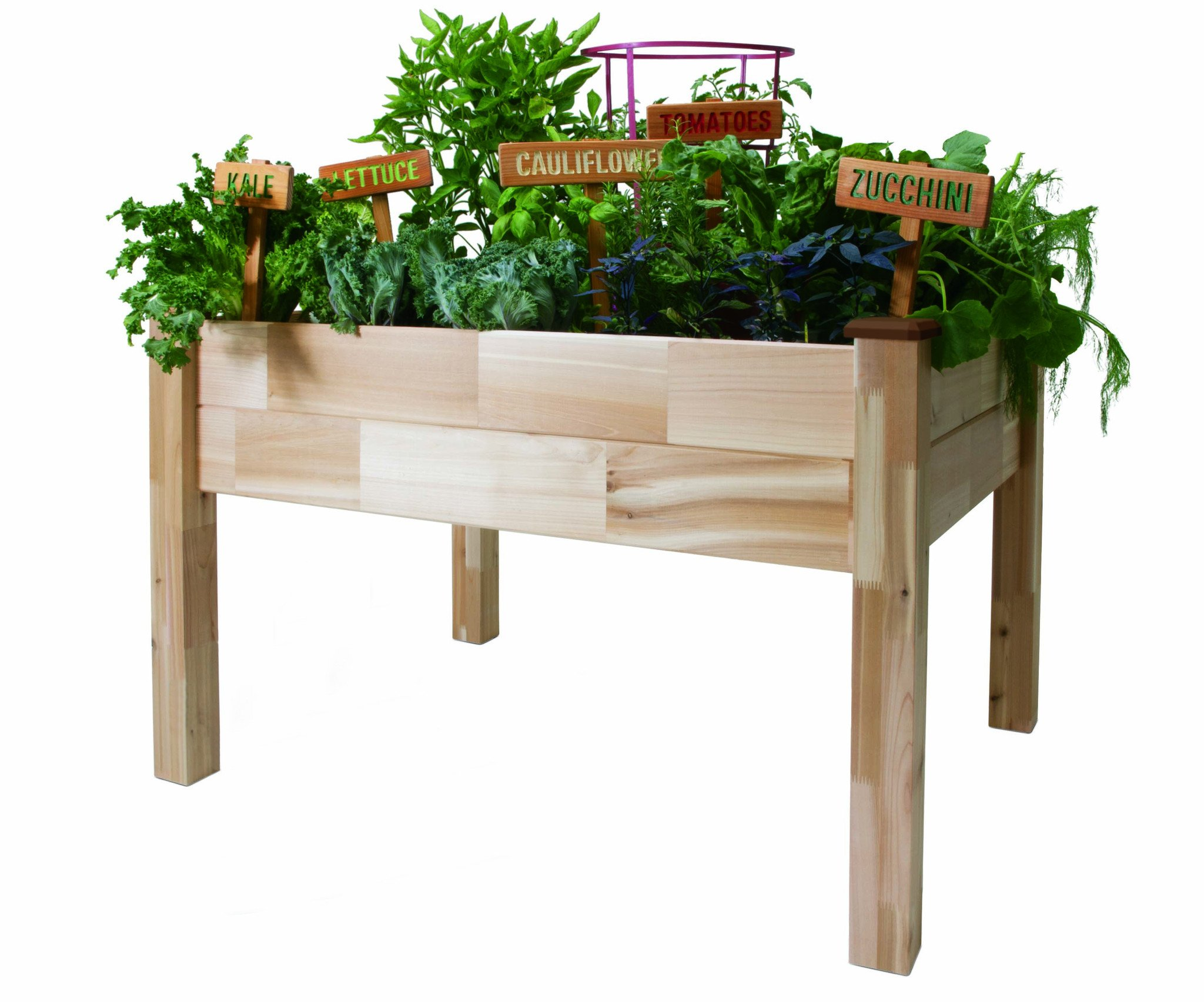 """CedarCraft Elevated Cedar Planter (23"""" x 49"""" x 30""""H) + Greenhouse Cover - Complete Raised Garden kit to Grow Tomatoes, Veggies & Herbs. Greenhouse extends Growing Season, Protects Plants 1 The complete gardening kit to maximize your growing season Easy working height minimizes back & knee strain Greenhouse cover protects & provides the perfect microclimate for plants"""