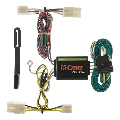 amazon com: curt 55310 vehicle-side custom 4-pin trailer wiring harness for  select hyundai elantra, hyundai santa fe, kia rio 5: automotive