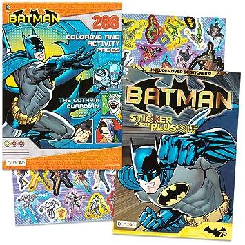 Amazon.com: DC Comics BATMAN Coloring & Activity Book Set with ...