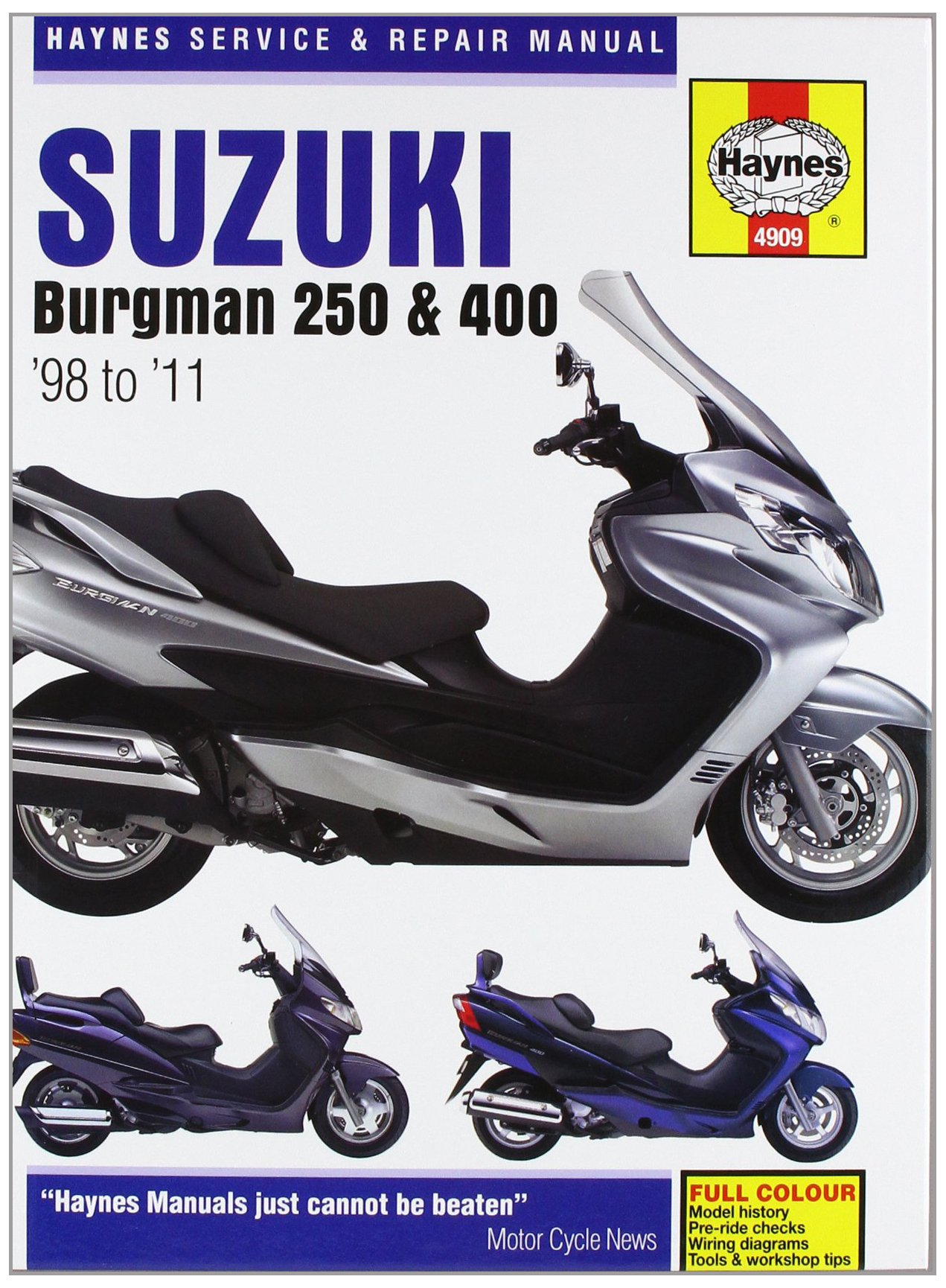Suzuki AN250 & 400 Burgman Service and Repair Manual: 1998 to 2010 (Haynes  Service and Repair Manuals): Amazon.co.uk: Phil Mather: 9781844259090: Books