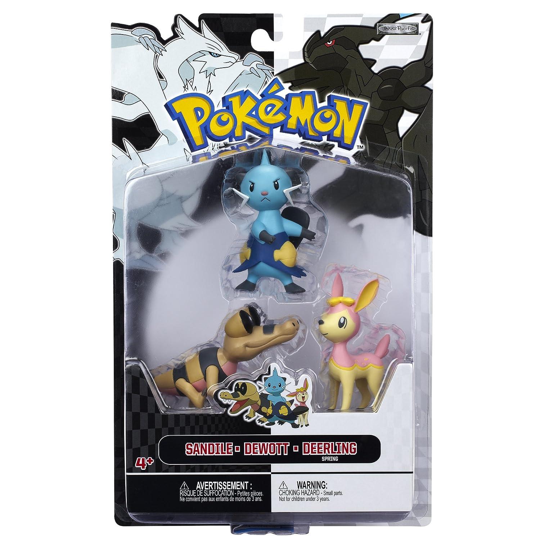 Amazon Pokemon Figure Multipack BW Series 3 Dewott Deerling And Sandile Toys Games