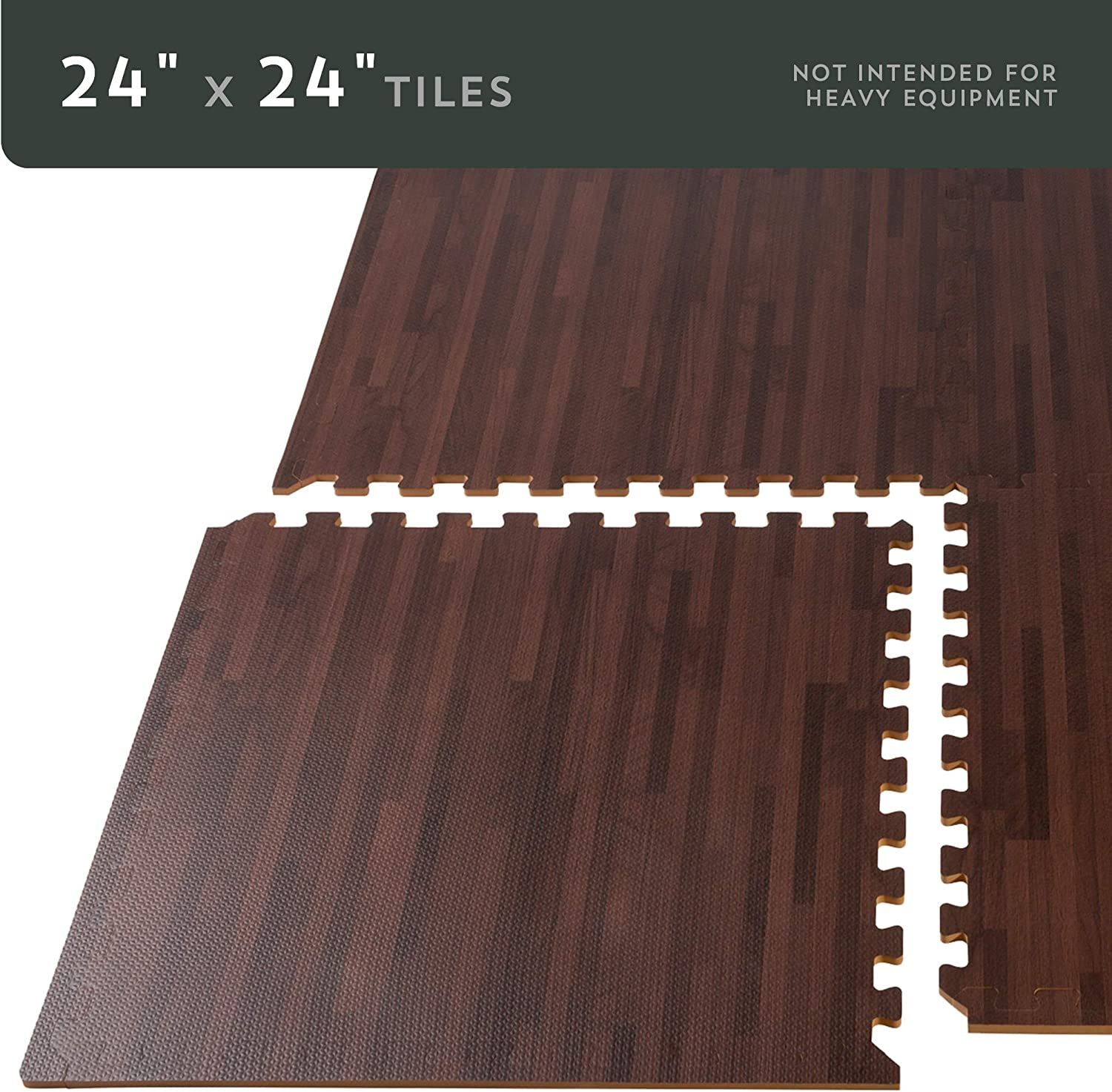 Forest Floor 3//8 Inch Thick Printed Foam Tiles Premium Wood Grain Interlocking Foam Floor Mats Anti-Fatigue Flooring