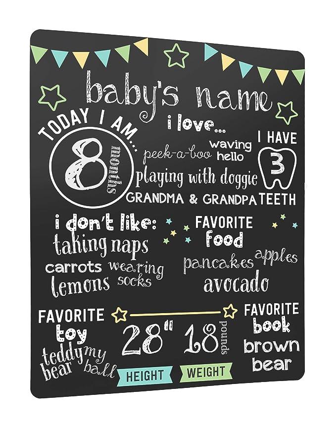 Black Baby Photo Prop Pearhead Arrows Baby Milestone Chalkboard