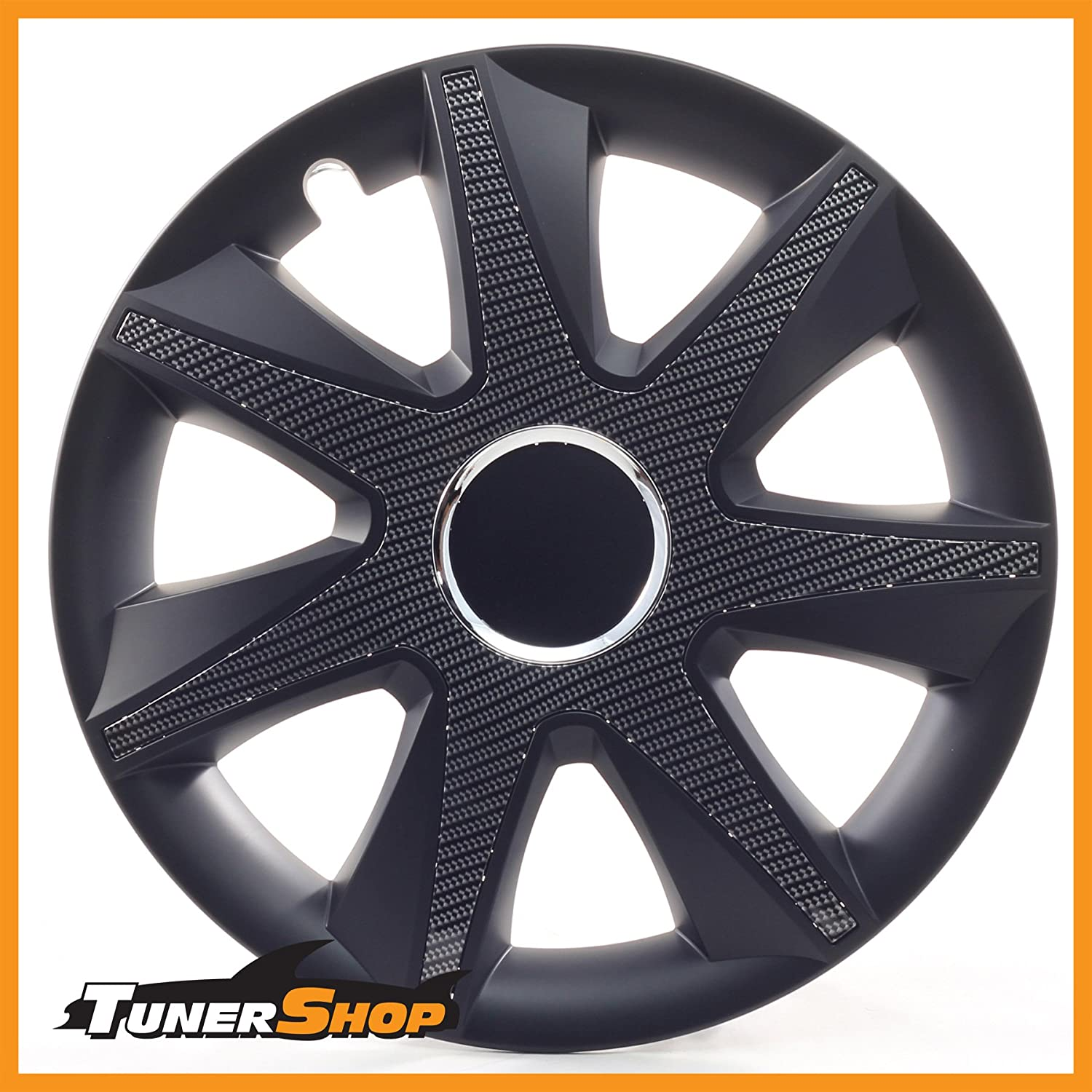 Drift Wheel Trims Hub Caps 15 Inch for Ford Wheel#2433144 carbon Black Winter and Summer