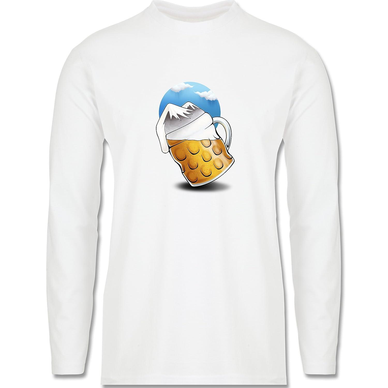 Après Ski - Bierberge - Longsleeve / langärmeliges T-Shirt für Herren