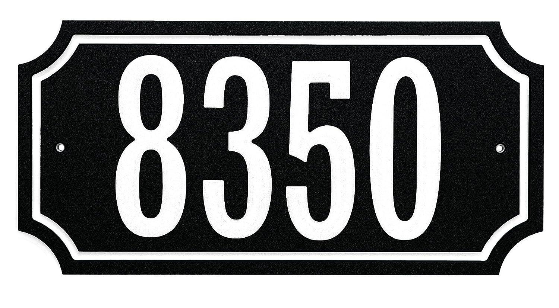 The Hillman Group 848896 Address Plaque, Black