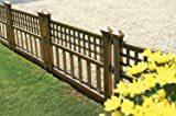 Greenhurst Pack of Four Plastic Fence Panels in Bronze