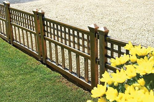Great Ideas Set Of 4 Mini White Garden Picket Fence Panels