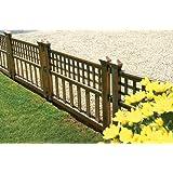 Gablemere - Greenhurst, Set di 4 pannelli per recinzione, in plastica, effetto bronzato