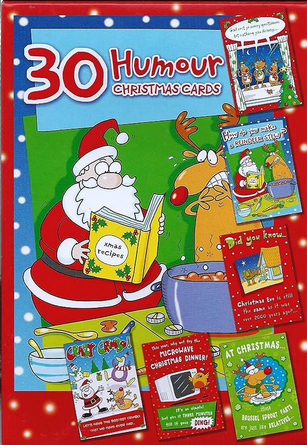 Humorous Christmas Cards - Box of 30 Funny Christmas Cards: Amazon ...