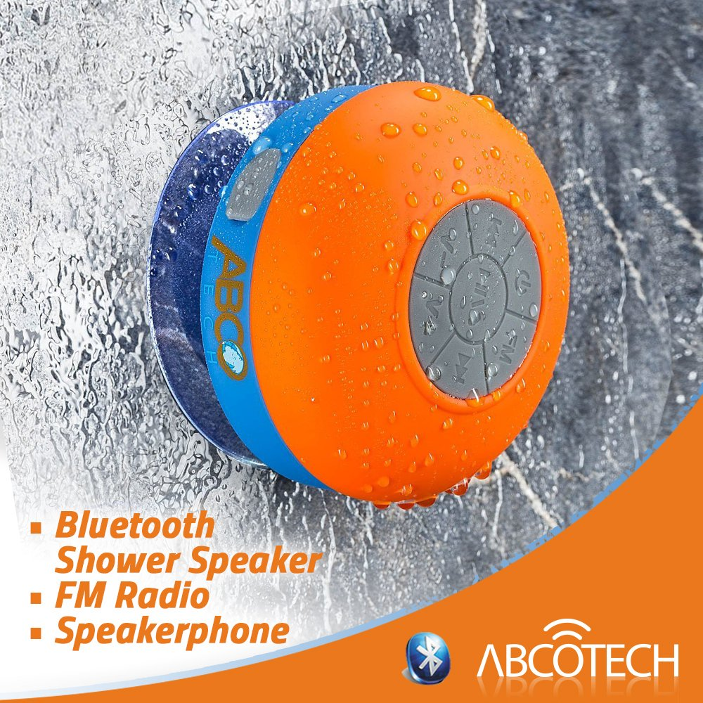 Amazon com  Bluetooth Shower Speaker   FM RADIO   Water Resistant   Wireless and Hands Free speaker phone with Suction Cup   Auto Pairing Feature. Amazon com  Bluetooth Shower Speaker   FM RADIO   Water Resistant