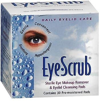 Eye Scrub Sterile Eye Makeup Remover & Eyelid Cleansing Pads 30 ea (Pack of 3) Kanebo - Sensai Cellular Performance Wrinkle Repair Eye Cream - 15ml/0.5oz