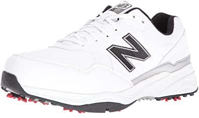 New Balance Men's NBG1701 Golf Shoe, White/Black, ...