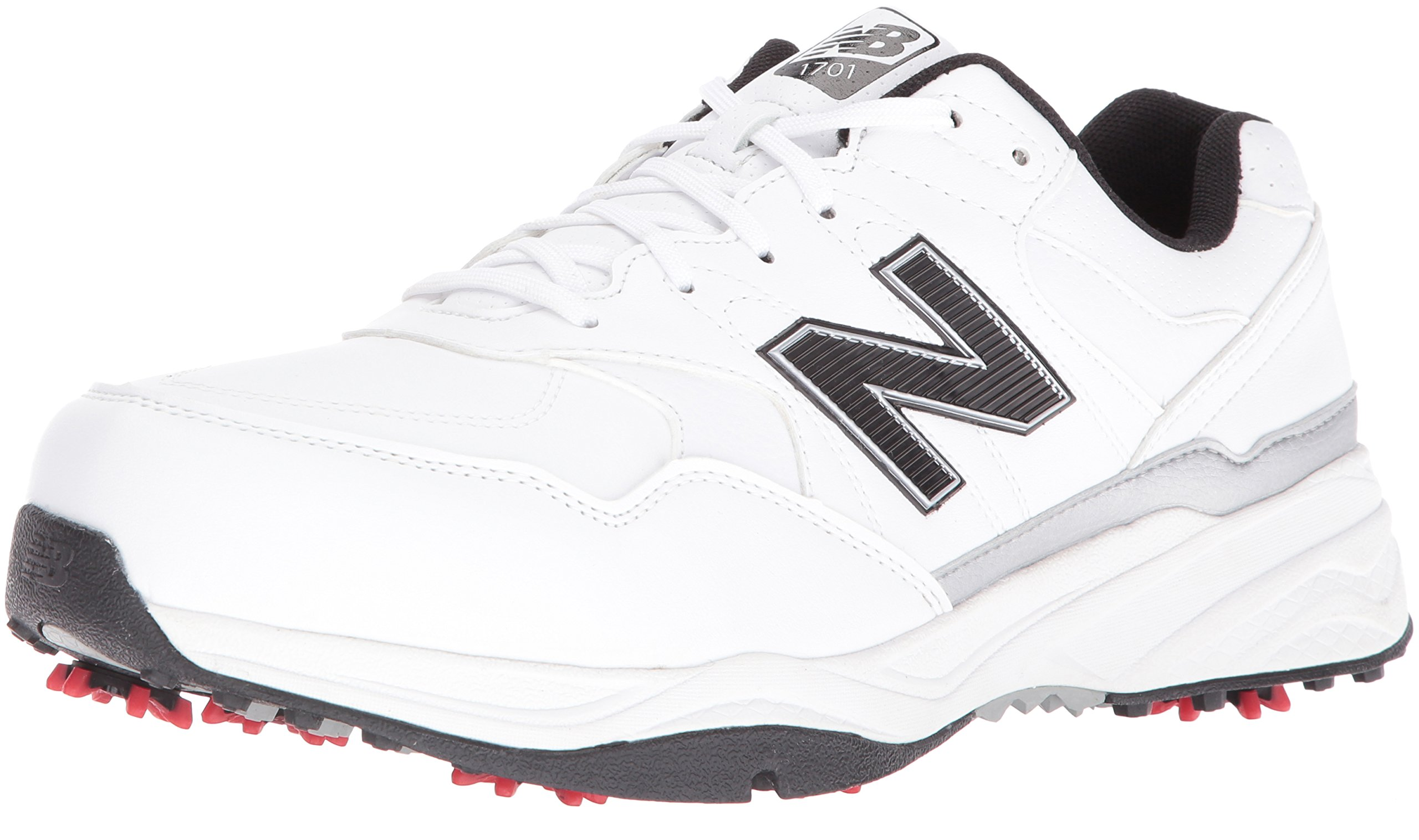 New Balance Men's NBG1701 Golf Shoe, White/Black, 9.5 4E US by New Balance