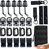 """MWZTECH Kit of 25 Attachments for Molle Backpack, Molle Accessories Kit for 1"""" Webbing Strap Tactical Backpack,D-Ring…"""