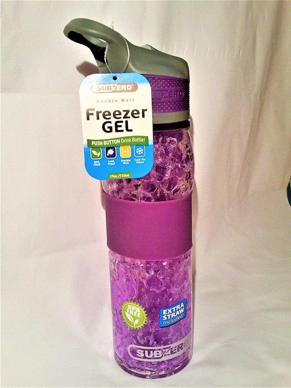 SubZero Tritan de 828 ml congelador botella de Gel con botón (rosa ...