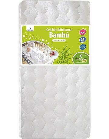 Babysom - Colchón Minicuna bebé - 90 x 40 cm - Funda de Bambú - Transpirable