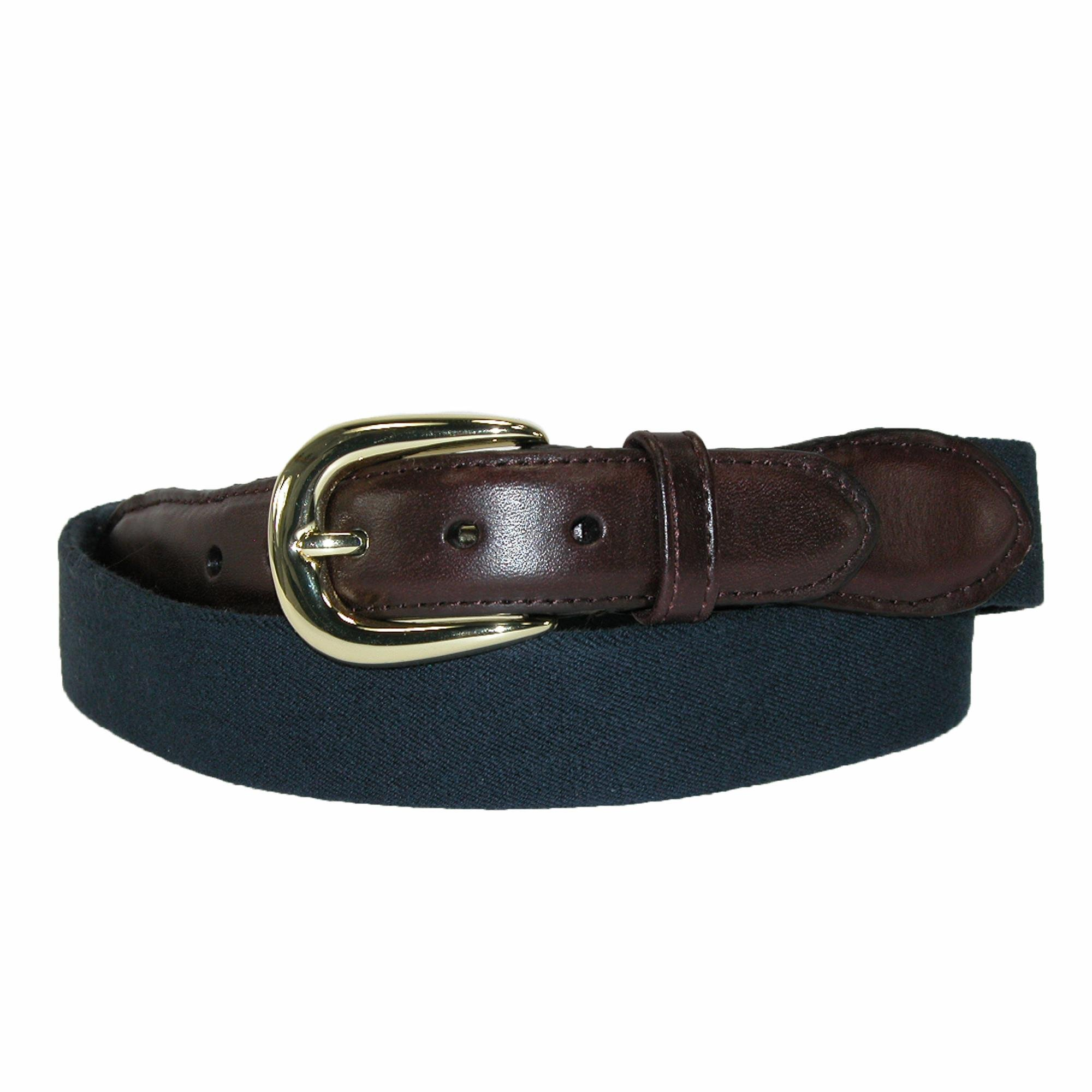 Rogers-Whitley Men's Cotton Elastic Stretch Belt, 32, Navy