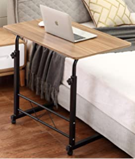 Akway Mobile Laptop Desk Cart 31.5 x 19.6 inch Rolling Cart Notebook Computer Stand Bed Table