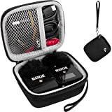 Case for Rode Wireless Go-Compact Wireless Microphone System,Storage Carrying Holder Fits for Transmitter,Receiver,Furry Micr