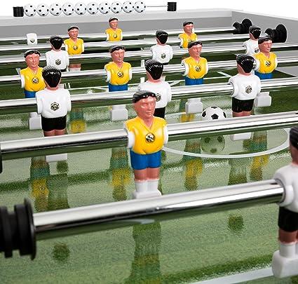 Klarfit Maracanã • Mesa de futbolín • Mesa de Juegos • Tamaño de 118 x 68 cm para competir • Bolas de Corcho • Movimiento Fluido de Las Barras • Esquinas protegidas •