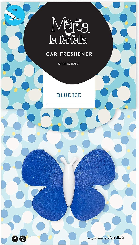 Marta La Farfalla Blue Ice Pack 3 Stück Duftspender Lufterfrischer Für Auto Und Umgebungen Auto