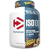 Dymatize ISO100 Hydrolyzed Protein Powder, 100% Whey Isolate Protein, 25g of Protein, 5.5g BCAAs, Gluten Free, Fast Absorbing