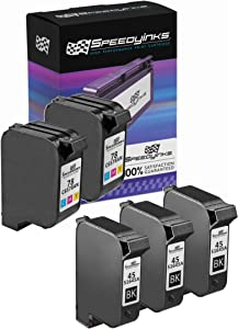 Speedy Inks Remanufactured Ink Cartridge Replacement for HP 45 and HP 78 (3 Black, 2 Color, 5-Pack)